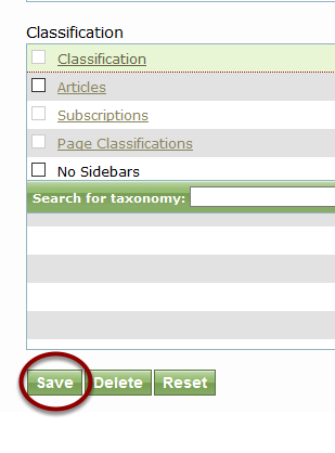 When you are finished editing the author, click Save.