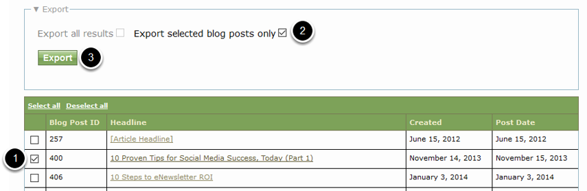You may also export an article or blog post as XML to view the name.