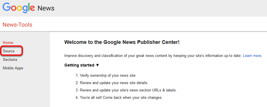 Go to Google News Publisher Control Center > Details / Source > NAME field to see the name that Google is expecting.