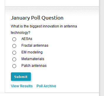 Here's an example of a poll on an ePublishing client's website: