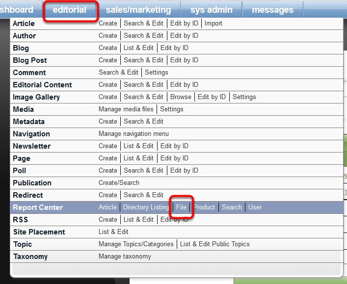 Access reports that document who accessed that file in your Report Center.