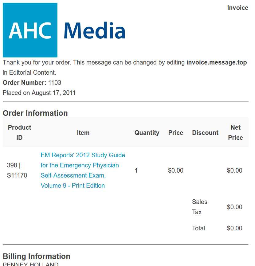 You may want your logo to show on the invoices your readers can print from their accounts on your website. For example: