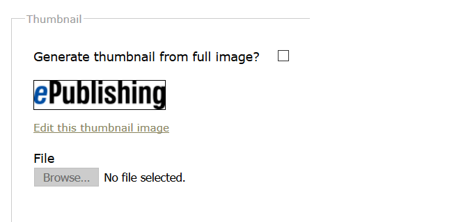 A thumbnail of your image will be automatically generated unless you tell the Media Manager not to do so when uploading the image.