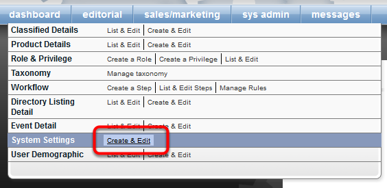 Control this setting in your website's Admin by navigating to the following: Sys Admin > System Settings > Create & Edit.