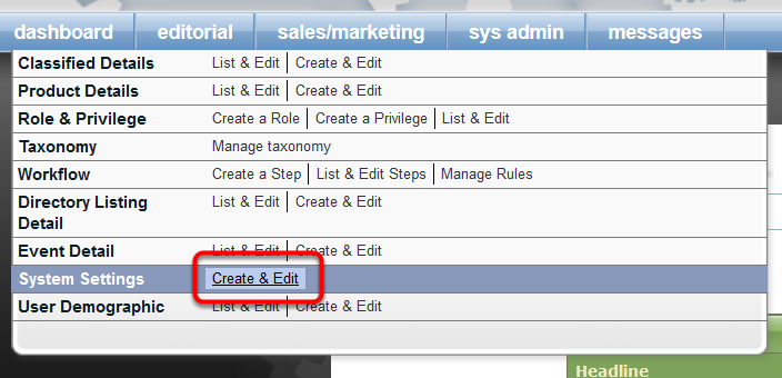Control whether thumbnail images show on the Past Orders tab by navigating to the following in Admin: sys admin > System Settings > Create & Edit .