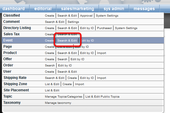 To open the Event Attendee Report, open your Event in the Event Manager.