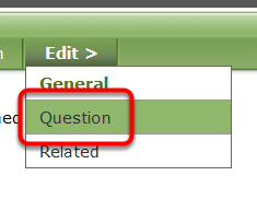 Access your poll in the Poll Manager. Click on Question under Edit> to access and edit questions for your poll.