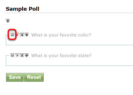 To change the order of questions, click, hold and drag the Order Icon (|||) to the preferred spot.