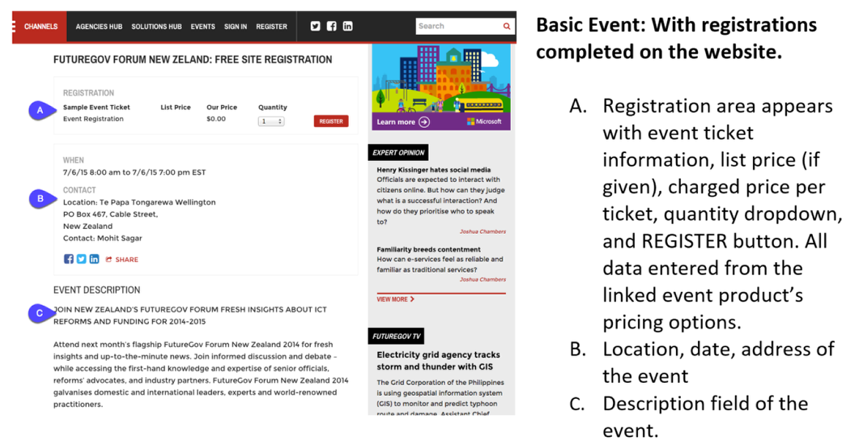 Basic Layout: With Registrations Completed on Your Website