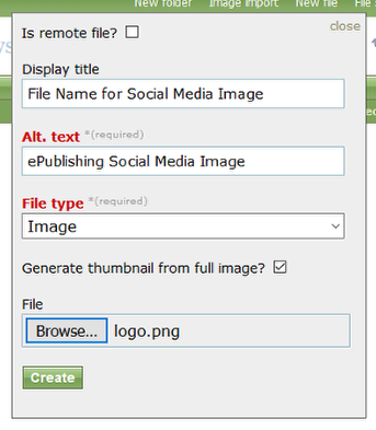 Click new file and upload your PNG image.