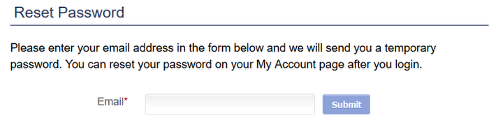 Every website's Reset Password page may look different. Another example: