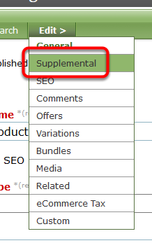 Go to Supplemental in your Edit > menu.