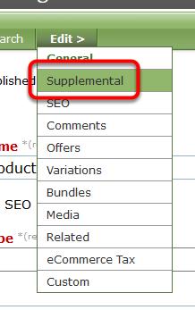 Go to Supplemental in your Edit > menu.
