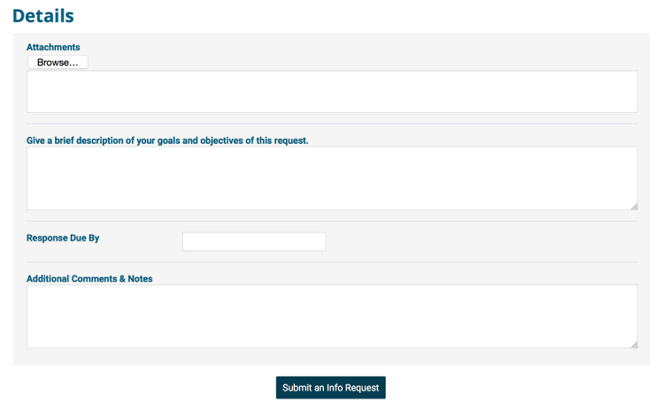 Here's an example of a form with an attachment upload option: