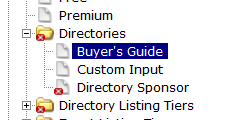 Click the Directory you would like to hide or delete from your website.
