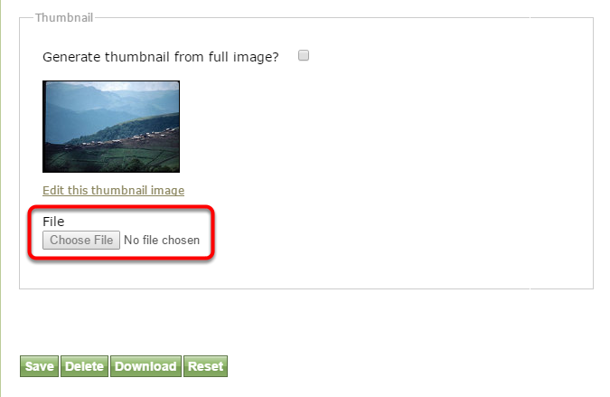 For videos, you will need to add your own thumbnail.