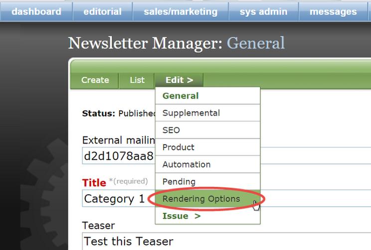 In the General editor, selectEdit > Rendering Options.