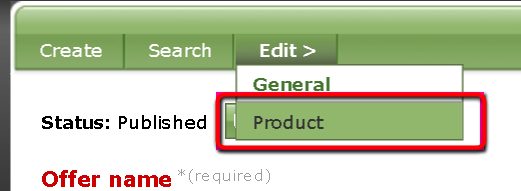4. Select Edit > Product.