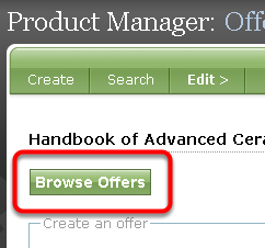 Apply an existing offer.