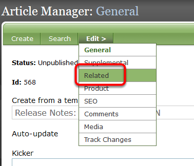 First we show the manually related content selected when you created the initial article, blog post or other content.