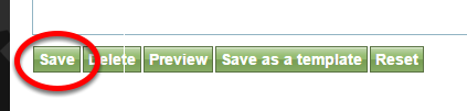 When you are finished editing your article, click Save.