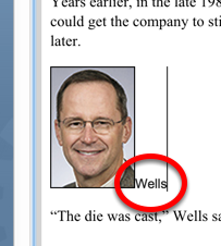 To edit your text or caption/photo credit, simply edit the text in the WYSIWYG editor as it appears.