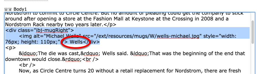 Or edit the text within the HTML between the <DIV> tags.