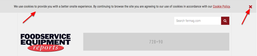 Add a site notification for readers of your site to see when they access your site.
