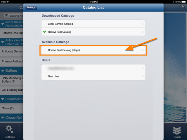 In FatStax, go to Settings > Catalog List to see the Stage catalog version.