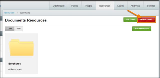 Select Delete Folder