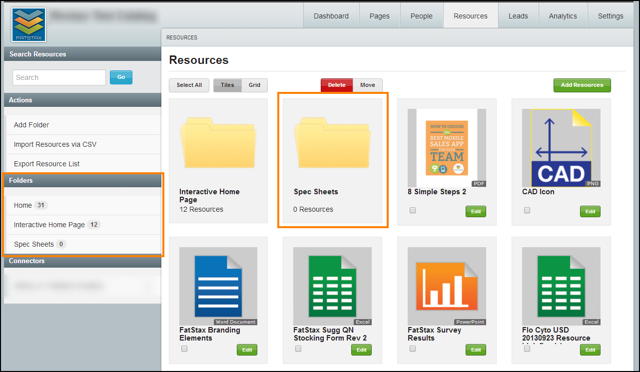 The new Folder will be added to the Resources section