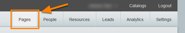 Within CloudStax, select your source catalog that you want to copy and navigate to the Pages tab.