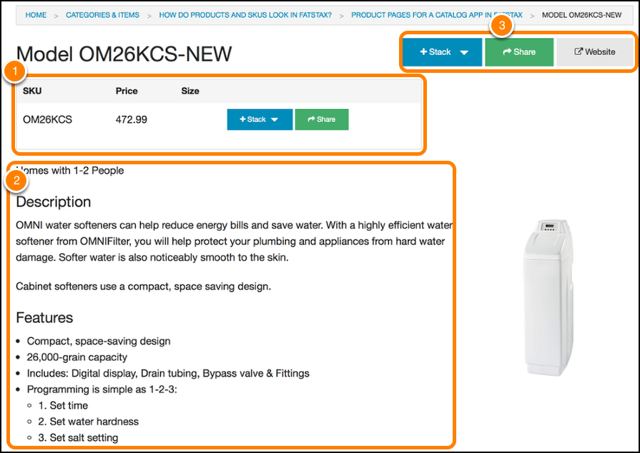 Product or Item Pages