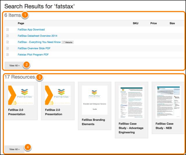 Searching in FatStax Web