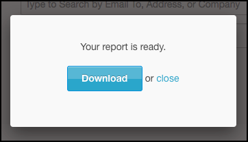 Once the report is finished, download it by clicking the button