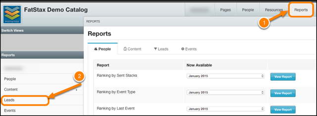 Navigate to Reports > Leads