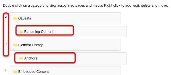 All Subcategories within the Category are displayed