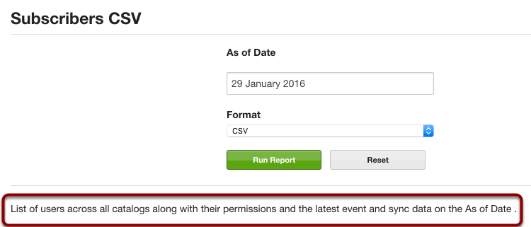 Export Subscriber CSV