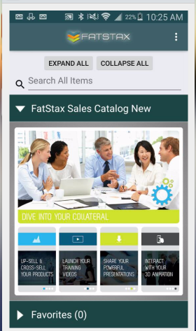 Once you have your Catalog synced, you will see the Home Page.