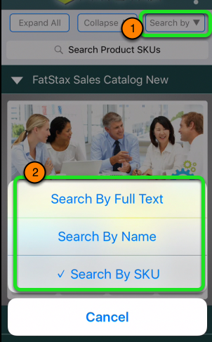Search by Name and SKU on the iPhone