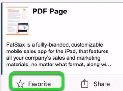 Create Favorites - iPhone and iPad