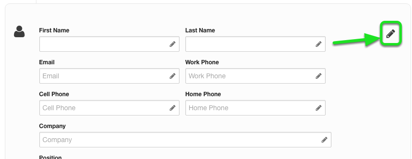 Customize which fields are shown within this question type by clicking the large pencil