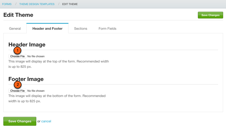 Add header & footer images