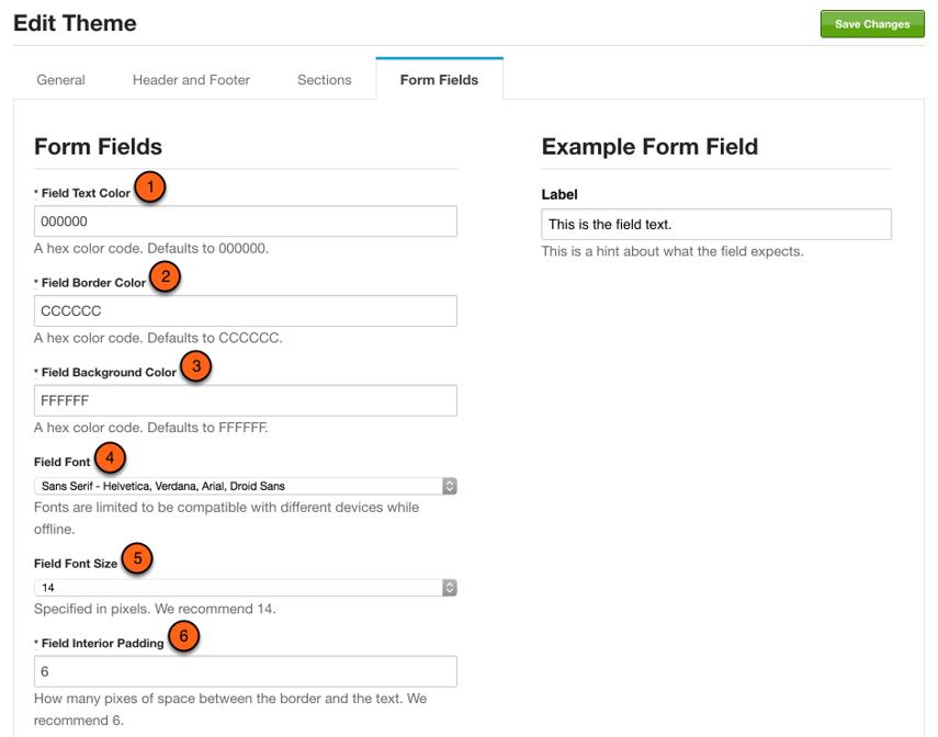 Customize form fields
