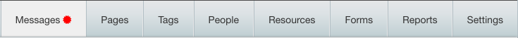 To get started, click the Messages tab on the top nav bar from within your catalog.