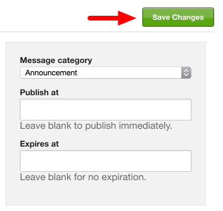 Click the green Save Changes button in the upper right corner of the screen.