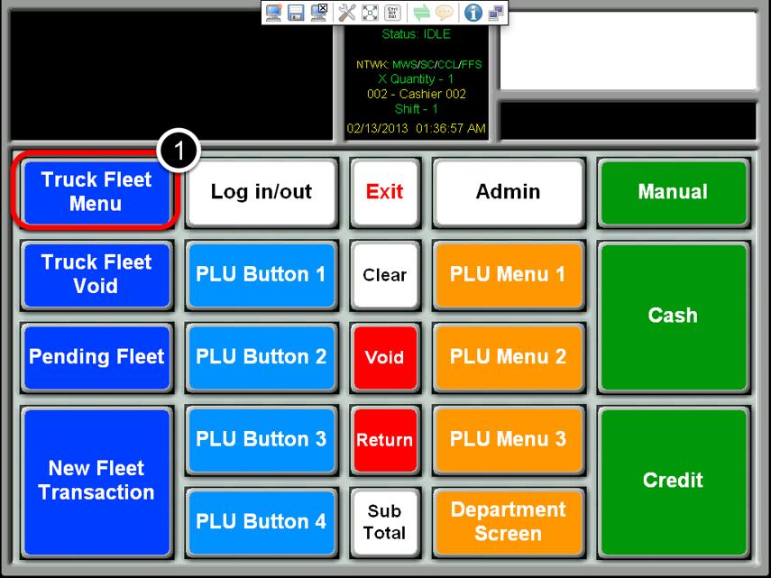 Select the Truck Fleet Menu Button