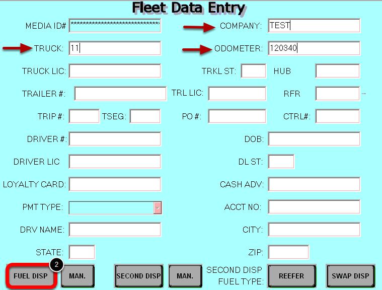 Enter Fleet Data
