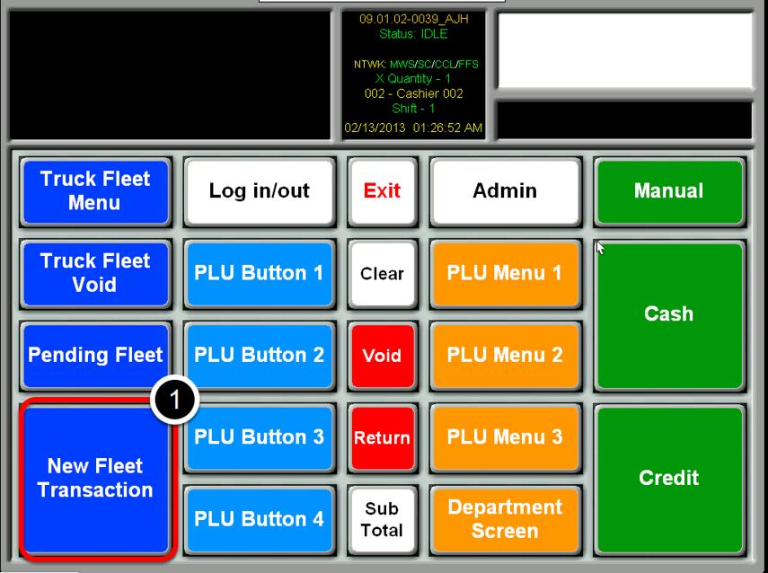 Select New Fleet Transaction