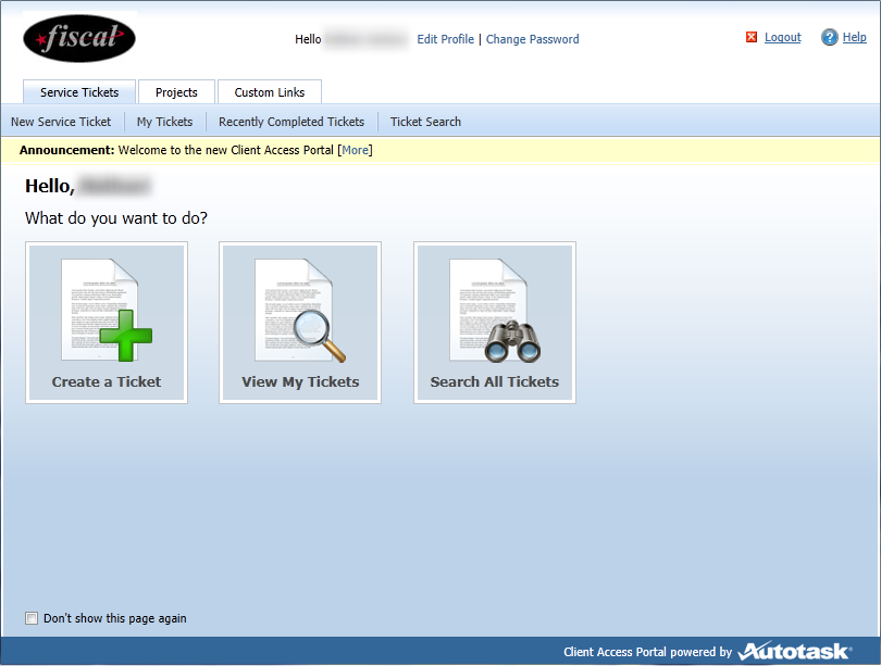Use the Client Access Portal